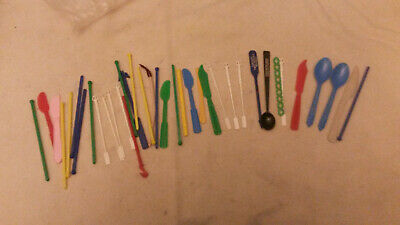Vintage Coffee Stirrer Lot Banned Mcdonalds Dairy Queen Advertising