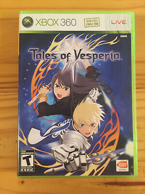 Tales of Vesperia (Microsoft Xbox 360) Complete with Case, Manual, and Disc