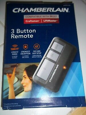 Nib Chamberlain 3-Button Garage Door Remote Control Transmitter  953Ev-P2