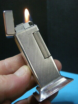 Raro Accendino Alfred Dunhill The Rollalite On Base -  Briquet Lighter Feuerzeug
