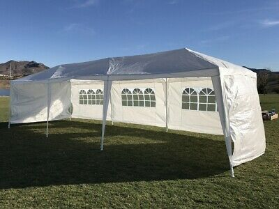 PALM SPRINGS 3m x 9m GARDEN GAZEBO / PARTY TENT / MARQUEE with 5 PANELS