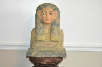 Egyptian Bust 16''Tall 12''Long 8''Deep made in Egypt out of Resin