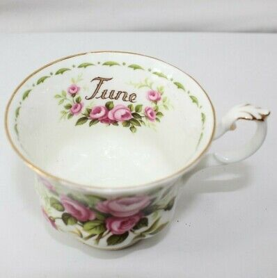 ROYAL ALBERT TEACUP June Roses Flower Of The Month Series Cup Only