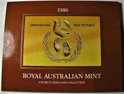 "1986 Australia Uncirculated Coin Set -  Royal Australian Mint  - ""Year of Peace"""