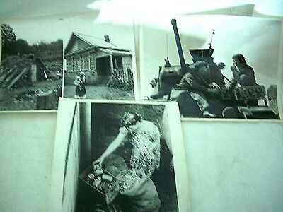 "WW2 collection of 3 large Army & every day life in WWII related photos 10"" x 8"""