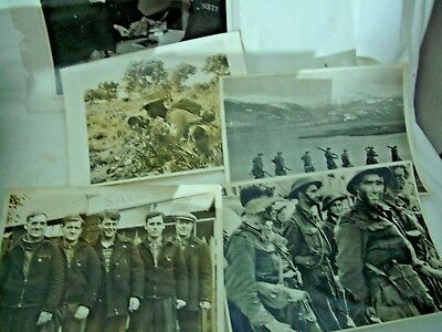 "WW2 collection of 4 large Army related photos 10"" x 8"""