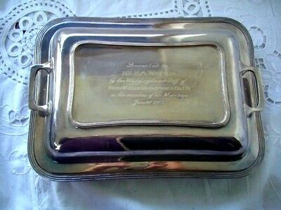 Silver plate Serving dish lidded- Hallmarked