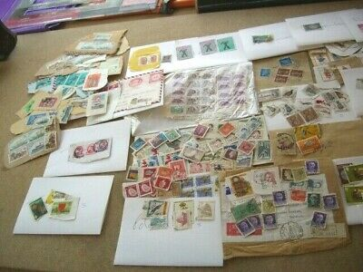 Job lot~ 29 Countries ~248 x World Stamps~Franked & not Franked ~ On&Off Paper