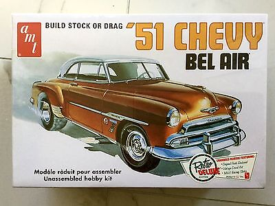 Amt 1/25 1951 Chevy Bel Air 2 In1 Builds Drag Or Stock Model Car Kit # 862 F/s