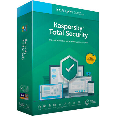Kaspersky Total Security 2019 - Antivirus 2 Device / 2 PC 1 Year