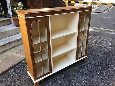 Art Deco Walnut Bookcase and Display Cabinet