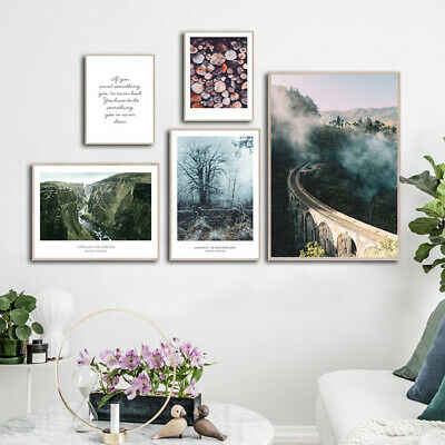 Scandinavian Poster Nordic Scenery Wall Art Canvas Print Home Decoration Picture