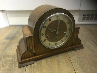 antique art deco westminister chime mantle clock fully working