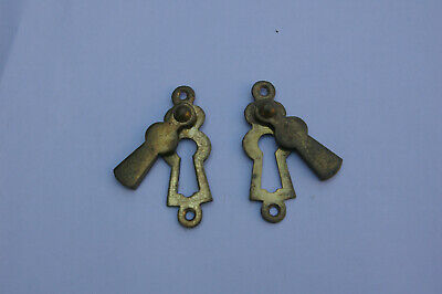 Pair of Vintage Brass Key Hole & Key Hole Covers