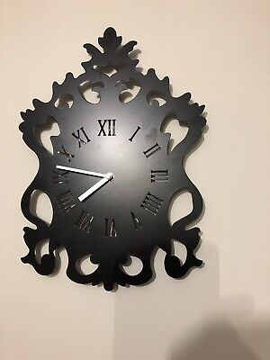 Black Vintage Antique Shabby Chic Wall Clock