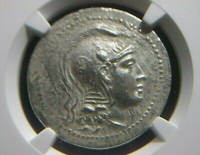 Silver Tetradrachm from city of Athens in Attica, 154-153 BC New Style NGC Ch XF