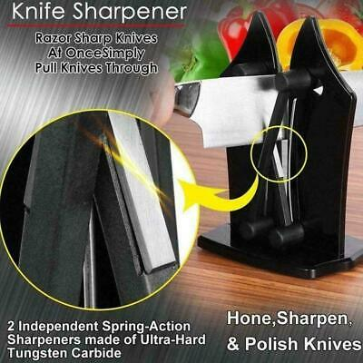 Kitchen Knife Sharpener Sharpens Hones Standard Bavarian Edge Blade Black