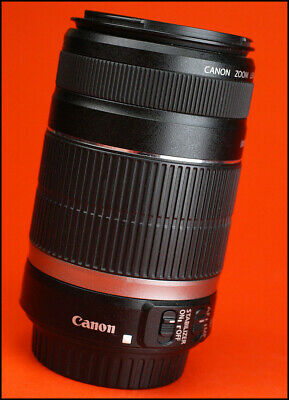 Canon EF-S 55-250mm F4-5.6 Image Stabilization AF Zoom Lens. With Rear Lens Cap