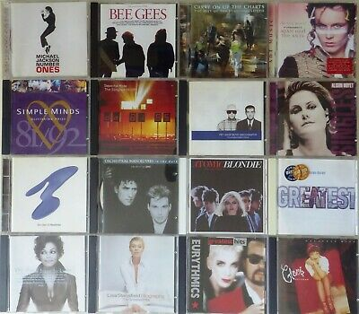 16 Electro & Synth Pop Greatest Hits Albums; Depeche Mode, New Order etc. Gd cdn