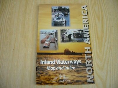 Book Of North America Inland Waterways Including Large Map And Index