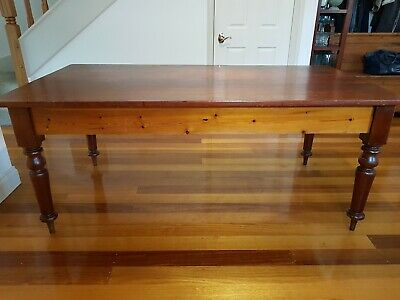 Antique cedar and pine dining table.
