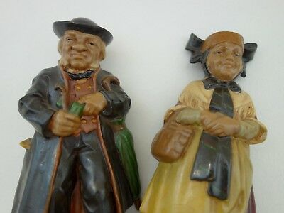Seltene Friedel Figuren Tracht Paar Couple Masse Pfeife Pipe