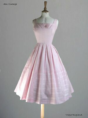 "50s  Vtg  ICE PINK SUMMER / PARTY  DRESS   34""  Bust"