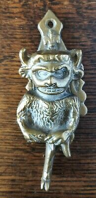 Vintage BRASS Lincoln IMP Devil Type Door Knocker Small Size 10cm