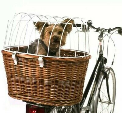 Aumüller Bicycle Pet Basket with Protective Wire Rear-Mounted Dog Travel Carrier