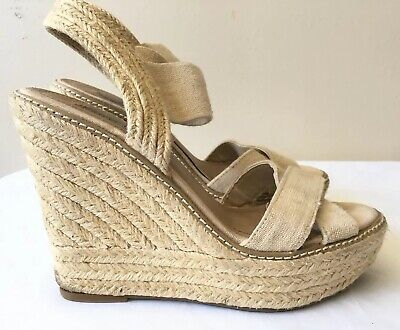 f346aaaede5 STEVE MADDEN ESPADRILLE Wedge Sandals Size 7