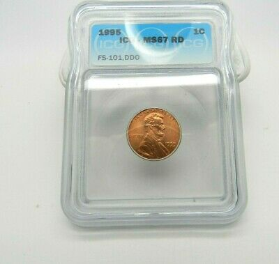 1995 Lincoln Memorial Penny 1C Coin PCGS MS 67 Red DDO FS-101