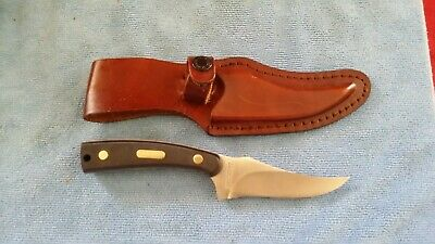 Schrade  Old Timer 152Ot Sharpfinger Hunting Knife & Leather Sheath Fixed Blade
