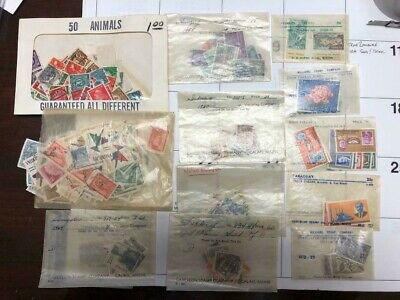Huge Lot of Foreign Worldwide Postage Stamps No US and hinges and mounts!  DC11