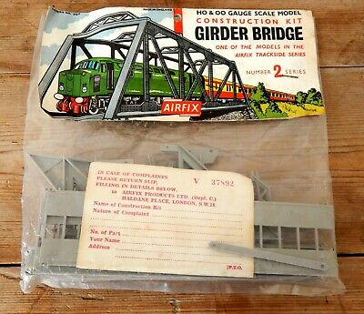 Airfix HO Model Railway Kit Girder Bridge Unmade & Sealed in Rare Type 2 Bag OO