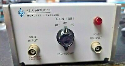 Agilent HP 461A Wideband Amplifier 1kHz - 150MHz 20dB and 40dB Gain - TESTED