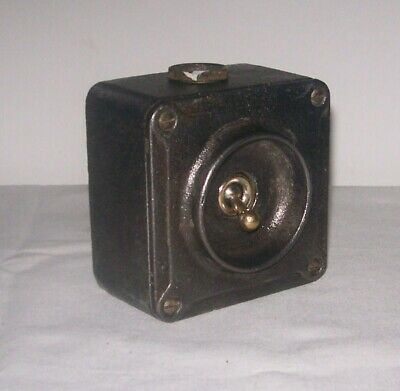 Crabtree Cast Iron Industrial Light Switch A15101 Stripped Paint & Waxed