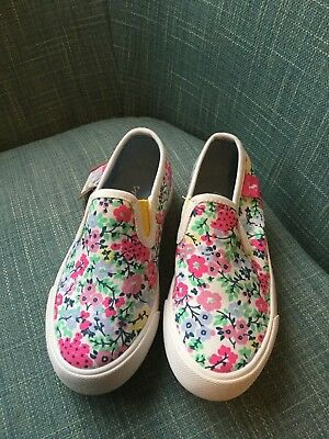 Girls Ditsy Junior Bex Canvas Shoes - Joules - BNWT - RRP £29.95