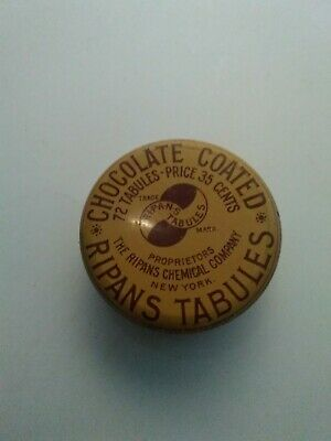 Vintage Ripans Chocolate Coated Tabules Quack Medicine Tin