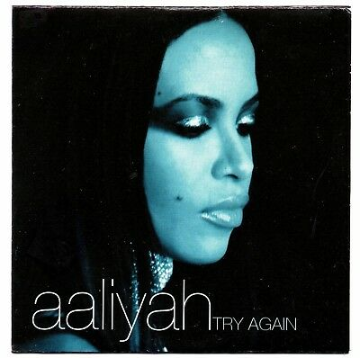 AALIYAH Try again RAREST SPANISH PROMO CD SINGLE UNIQUE COVER CARD SLEEVE 2001