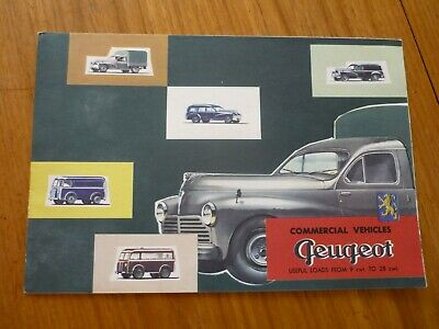 RARE 1950's PEUGEOT COMMERCIAL VEHICLES UK MARKET BROCHURE