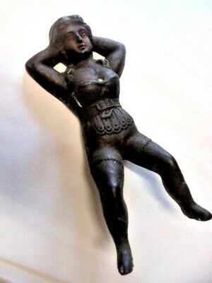 Victorian Cast Iron Boot Pull Lady In Corset Rare Original From House Clearance