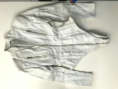 Sexy Leather White Size L Weiss Echte Leder Body biker  Cuir blanc