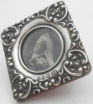 Victorian Small Sterling Silver Small Easel Back  Photo Frame - Chester 1900