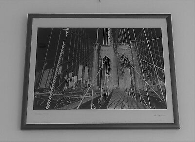 "Fotografie ""Brooklyn Bridge"" New York von Abe Frajndlich, handsigniert."