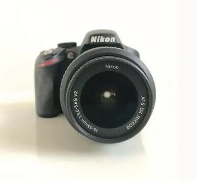 Nikon D D3200 24.2MP Digital SLR Camera - Black (Kit w/ AF-S DX VR 18-55mm Lens)