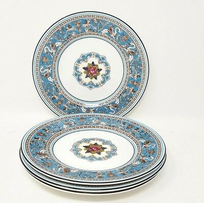 Wedgwood Turquoise Florentine W2714 4 x 6 Inch Side Or Tea Plates Excellent