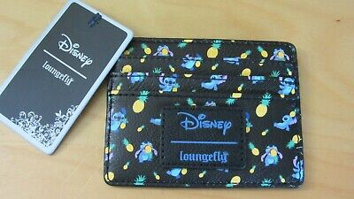 6ca3c75d579 NWT Loungefly Disney Lilo   Stitch and Black Pineapple Cardholder ID Wallet  Card