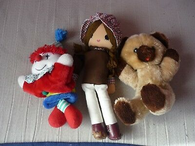 Lot 3 peluches