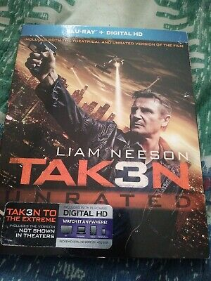 Taken 3 bluray with slipcover