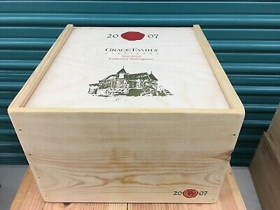 Wine Box Case Wooden Crate 6/750ml Napa Valley Domaine Grace Family Cabernet